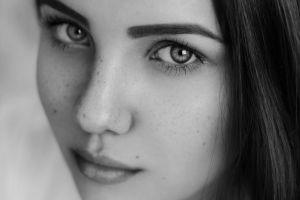 closeup women face
