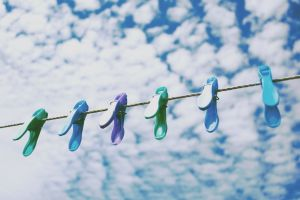 clothespins clouds photography