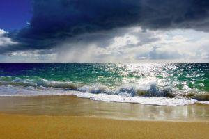 clouds beach sea foam sea landscape