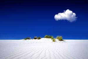 clouds blue sky sand dunes nature sand