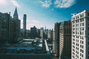 clouds cityscape building city