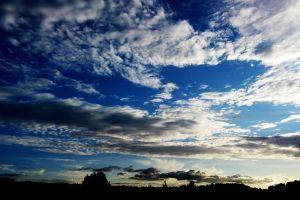 clouds dark blue nature landscape
