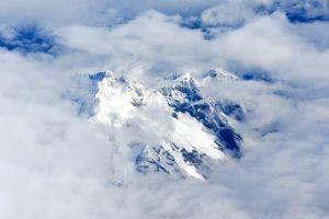 clouds landscape mountains