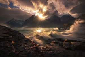 clouds mountains sky nature lake chile wind sunset snowy peak landscape torres del paine