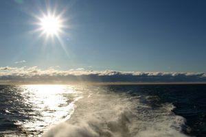 clouds nature sea waves summer horizon