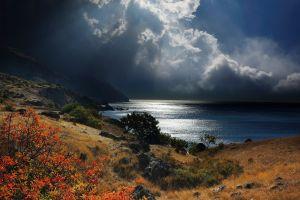 clouds nature sea