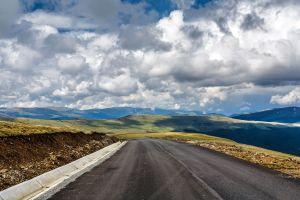 clouds road landscape