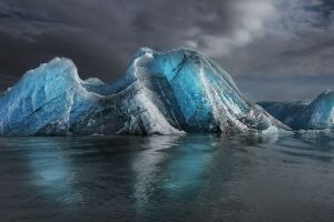 clouds sea daylight water morning landscape iceberg blue nature cold