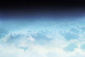clouds stars space
