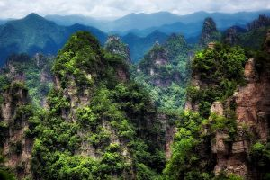 clouds trees forest landscape china mountains avatar nature