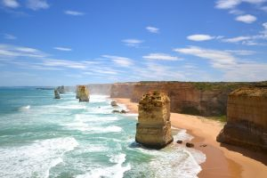 coast landscape cliff sea rock formation twelve apostles australia