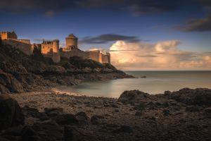 coast landscape sea fort