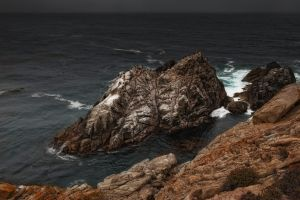 coast nature cliff sea