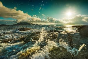 coast waves sun photography sea water landscape rock nature