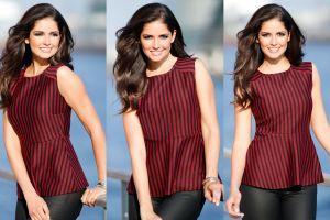 collage fashion model carla ossa smiling women women outdoors brunette