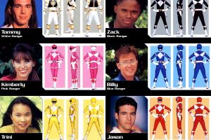 collage power rangers mighty morphin power rangers