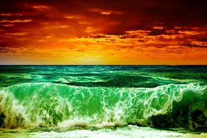 color correction beach landscape waves sea
