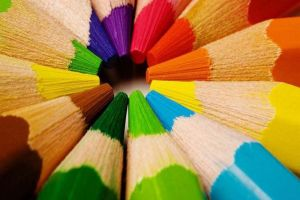 colorful abstract pencils