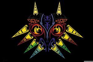 colorful abstract the legend of zelda the legend of zelda: majora's mask video games