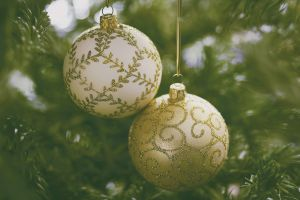colorful holiday christmas ornaments