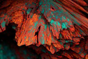 colorful mineral render cgi artwork digital art procedural minerals abstract