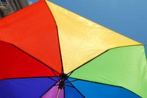 colorful outdoors umbrella