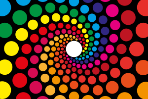 colorful spiral circle abstract