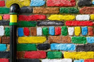 colorful texture bricks wall