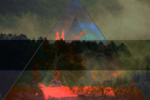 colorful triangle forest