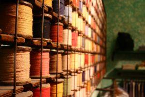 colorful yarn thread