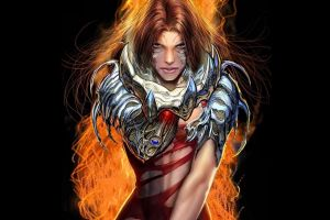 comic books witchblade top cow black background sara pezzini