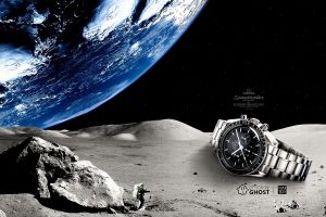 commercial space omega (watch) moon luxury watches digital art clocks