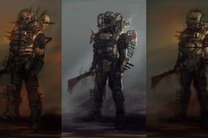 concept art video games collage fallout 4