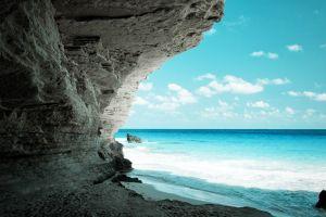 coves beach sea landscape sea foam