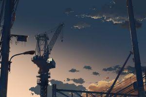 cranes (machine) industrial drawing