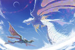 creature anime fantasy art dragon