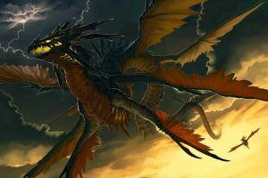 creature artwork fantasy art dragon