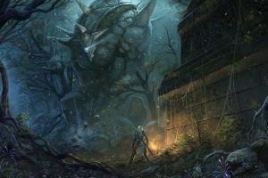 creature warrior artwork fantasy art