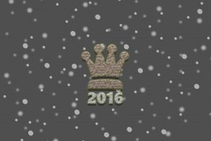 crown typography new year king snow flakes graphic design