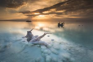 crystal  salt lakes landscape nature lake