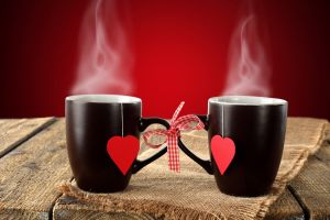 cup heart (design) love red background
