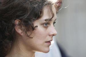curly hair marion cotillard actress face women blue eyes brunette
