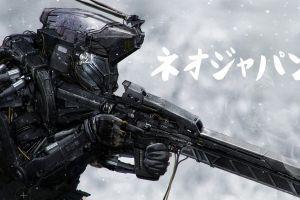 cyborg digital art artwork soldier neo japan 2202 military robot gun futuristic