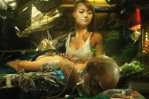 cyborg doctors fantasy art women cyberpunk artwork