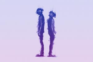 daft punk music simple background artwork