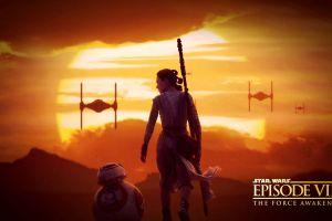 daisy ridley bb-8 sun rey star wars star wars: the force awakens