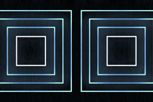 dark boxes blue black background cyan white simple square glowing