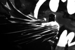 dark comics monochrome batman comic art