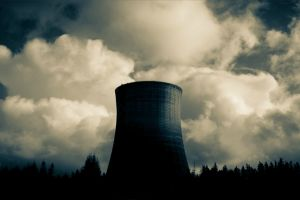 dark cooling towers clouds tower nuclear