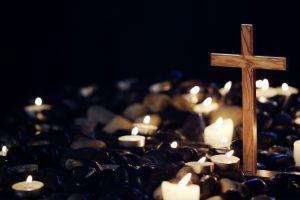 dark cross candles